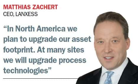 LANXESS €500m North America 2022 engineering plastics automotive