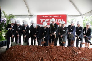Teijin groundbreaking ceremony second USA carbon fibre plant