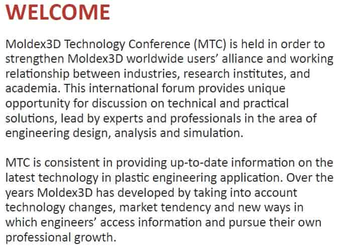 Moldex 3D Technology Conference 2018