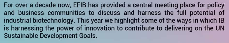 EFIB 2018 Industrial Biotechnology Bioeconomy