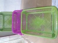 Plastic tray fiber based tray
