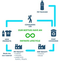 Polymers PET Petrochemicals rPET recycling