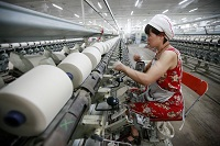 textile factory in Huaibei, China.