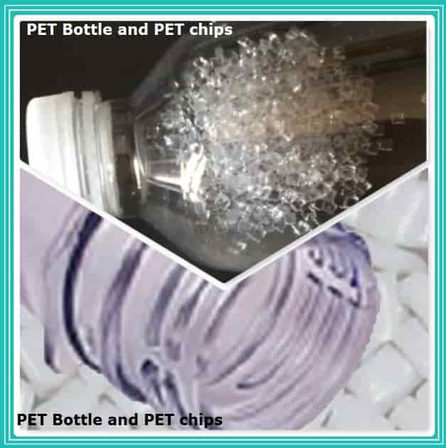 Bottle from PET Recycled