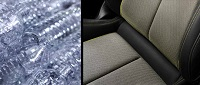Audi now uses recycled plastic bottles in their seat fabrics