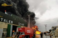 Massive fire at Fuente Álamo plastics recycling plant