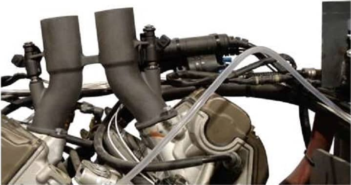 -Carbon fiber-reinforced polyamide performs in engine part