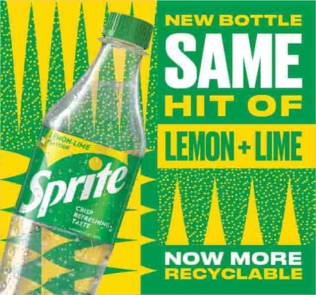 Sprite migrates from iconic green bottles to clear plastic bottles