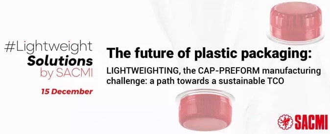 -15 December 2020: SACMI webinar on lightweight solutions in the cap-preform-production - live streams for all time zones, 7 languages