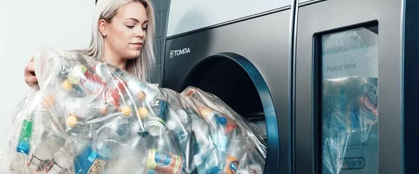 TOMRA powers up 100th TOMRA R1 reverse vending machine, for recycling over 100 containers in one go