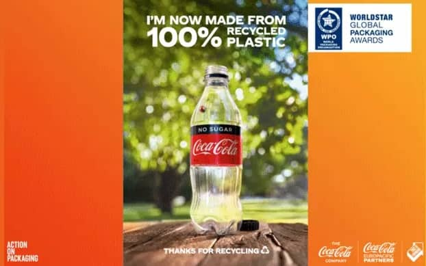 Coca-Cola Europacific Partners recognised for its transition to 100% rPET in Australia
