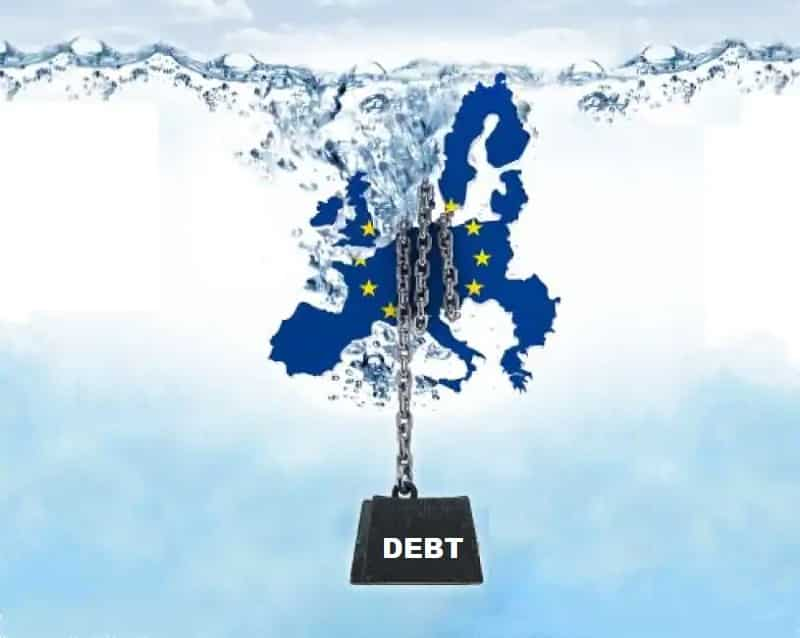 Government debt up to 100.5% of GDP in euro area
